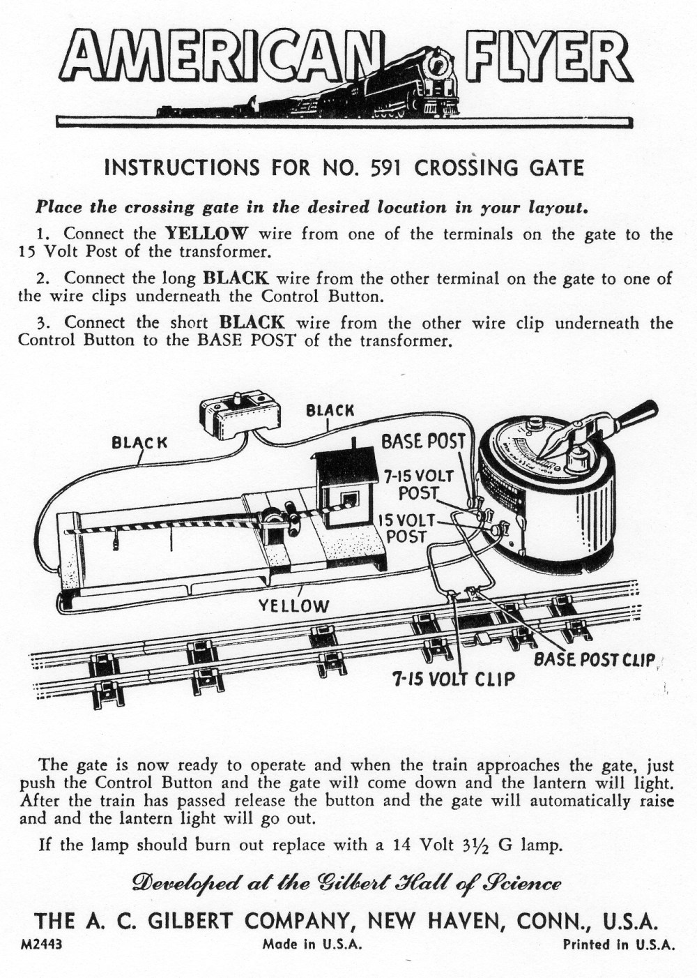 medium resolution of train accessory lionel crossing gate wiring diagrams wiring library lionel locomotive wiring diagram 591 crossing