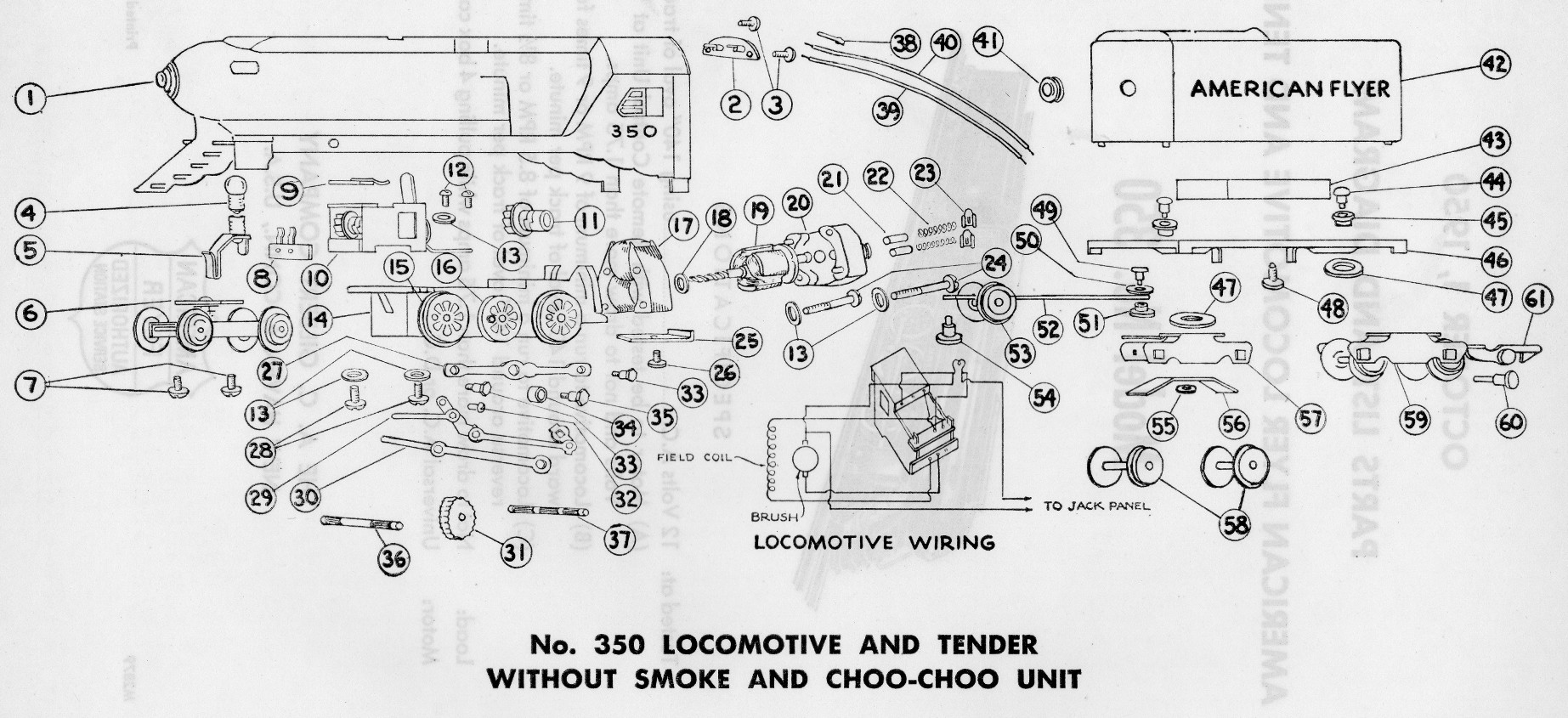 hight resolution of american flyer model 350 parts list and diagram traindr