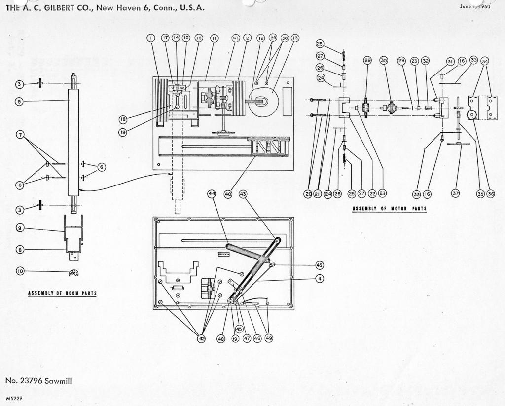 American Flyer Locomotive Wiring Diagrams American Flyer Sawmill 23796 Parts List Amp Diagram Traindr