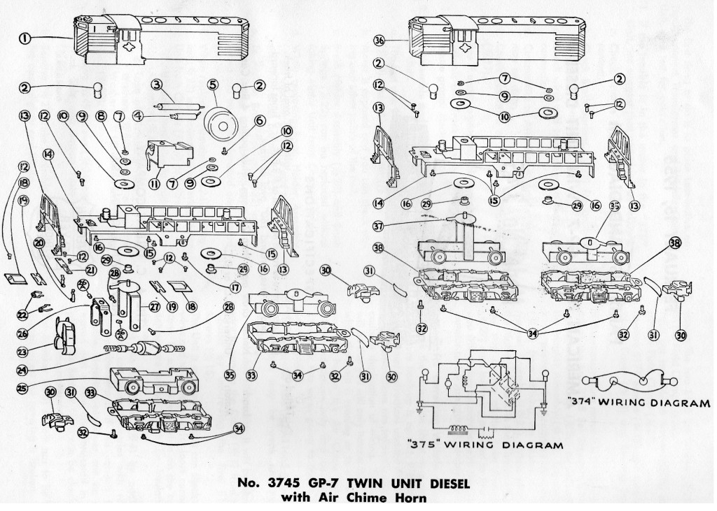 Lionel Steam Engine Diagrams Lionel Electric Engines