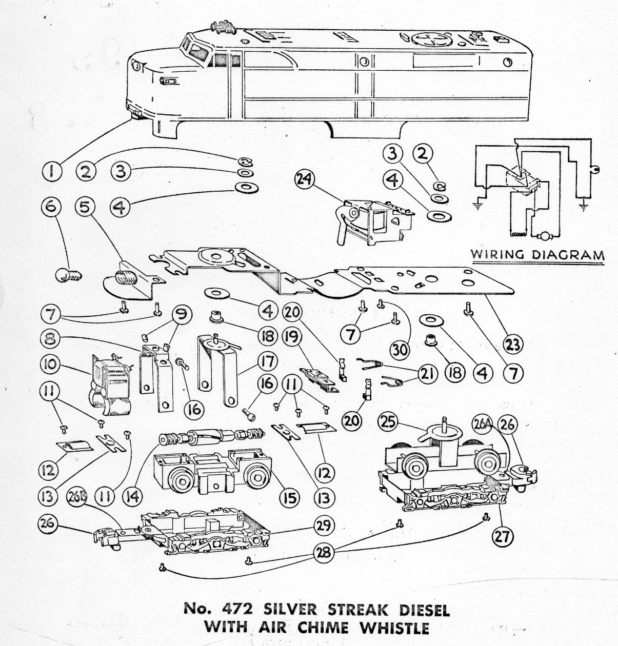 American Flyer Train Parts Diagram, American, Free Engine
