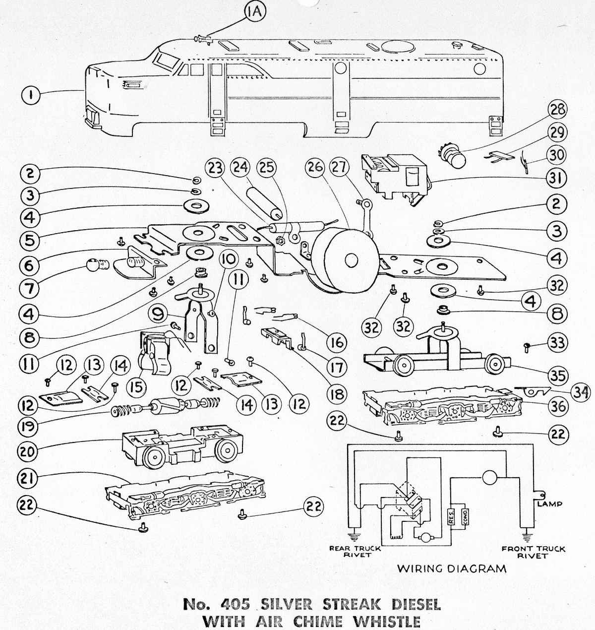 American Flyer Parts Diagrams American Flyer Parts