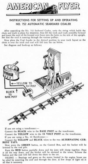 American Flyer Coal Loader 752A & 785 Parts List & Diagram | TrainDR