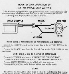 wiring instructions hook up and operation of no 762 two in one whistle [ 1260 x 1910 Pixel ]