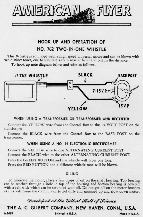 small resolution of  wiring instructions hook up and operation of no 762 two in one whistle