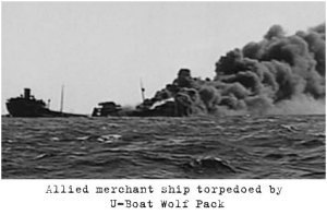 Allied-merchant-ship-torpedoed