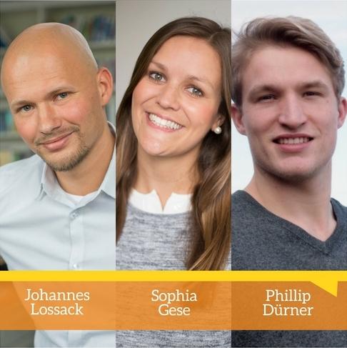 Johannes Lossack, Sophia Gese und Phillip Dürner. Kommunikation. Targeting. PR