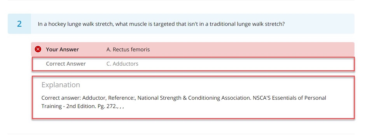 3 nsca tests