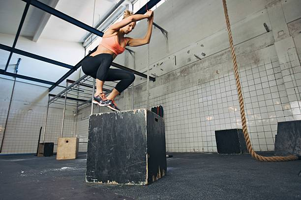 box jumps hiit
