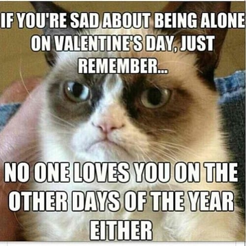 sad of valentines day