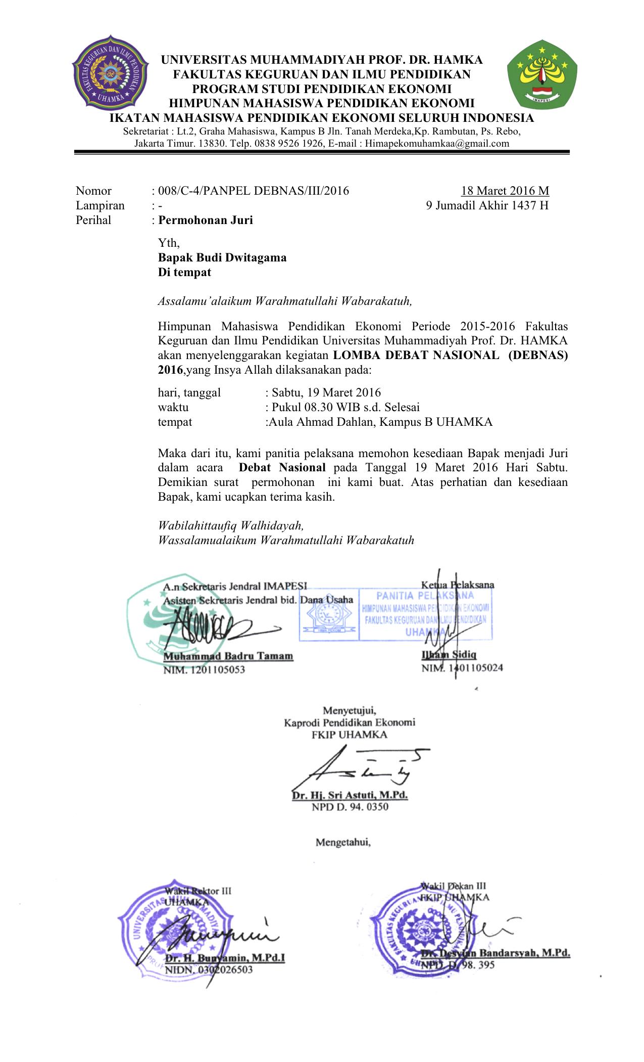 Surat Permohonan Juri : surat, permohonan, Surat, Permohonan, Trainer