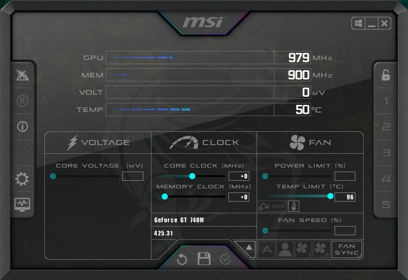 MSI Afterburner: Phần mềm test hiệu năng máy tính 1