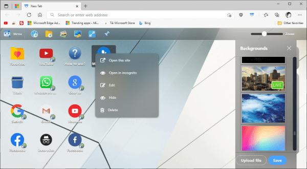 Desktop New Tab: Biến trang New Tab của Chrome giống màn hình desktop 9