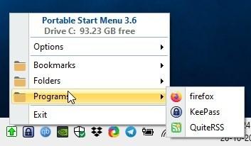 Portable Start Menu: Tạo nút Start menu di động 1