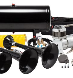 make your truck s bark match its bite with the kleinn hk7 train horn kit when it s time to step up your sound game there s only one air horn in the  [ 1500 x 878 Pixel ]