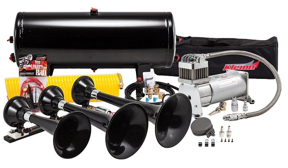 medium resolution of make your truck s bark match its bite with the kleinn hk7 train horn kit when it s time to step up your sound game there s only one air horn in the