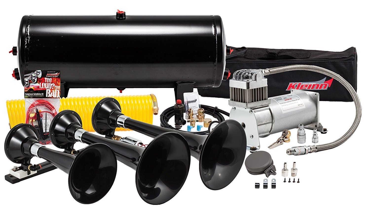 hight resolution of make your truck s bark match its bite with the kleinn hk7 train horn kit when it s time to step up your sound game there s only one air horn in the