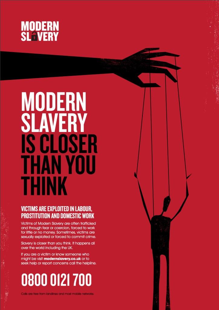 modern slavery poster image