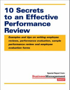 secrets to an effective performance review examples and tips on employee evaluation writing also rh trainingmanagementdaily