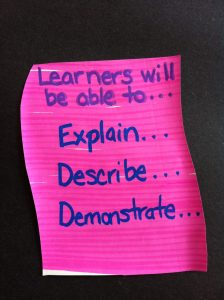 Action-oriented learner-centered objectives