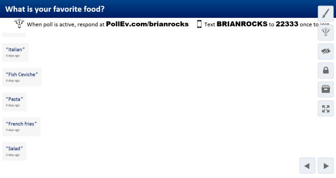 PollEverywhere (Fav Food)