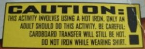 bad warning labels - do not iron