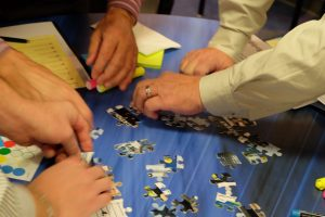 puzzle pieces as participant reward