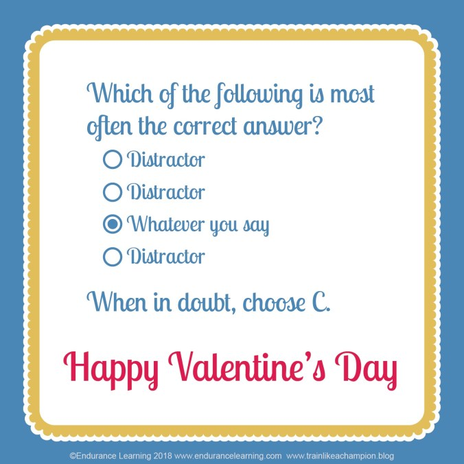 training valentines - distractors