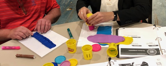 engaging training using play-doh