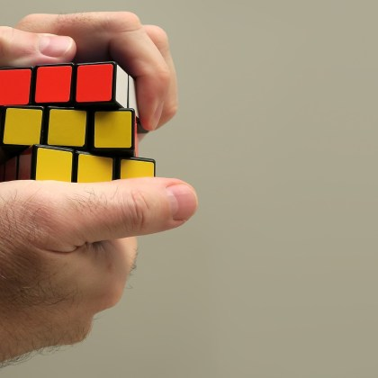 problems solving rubiks cube
