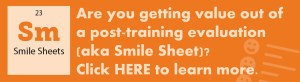 Smile Sheets focused on performance