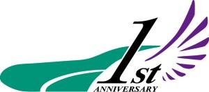 北海道新幹線1周年記念ロゴ・パープル