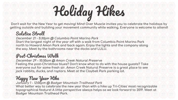 Holiday Hikes 2018