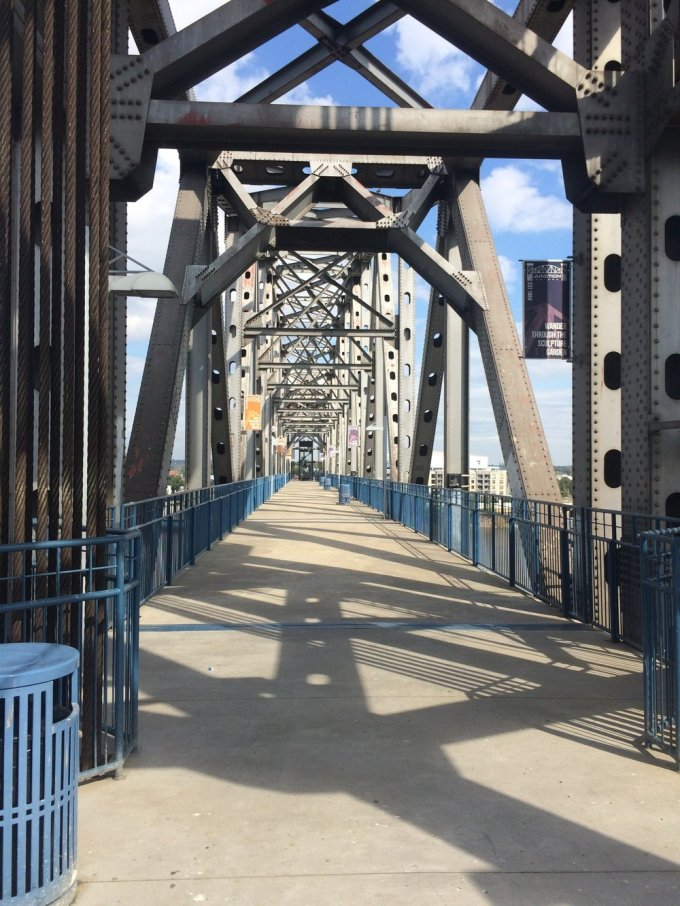 On the main level of Junction Bridge   Photo by B. Wing