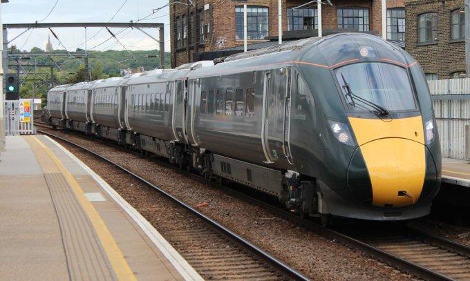 A new Hitachi built Class 800 Intercity Express Train.