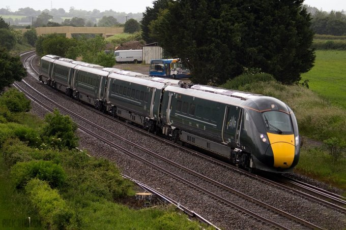 A GWR Class 800 at speed in diesel mode. Photo by Rick Ingham