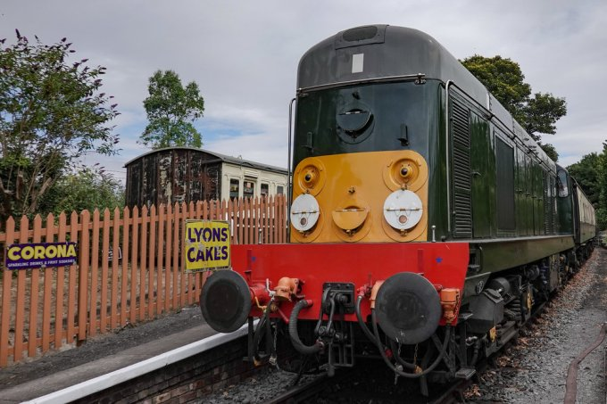 A 1961 Class 20 diesel electric locomotive on the Chinnor and Princes Risborough Railway