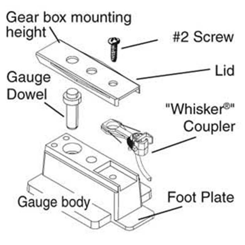 HO Scale Insulated Coupler Height Gauge