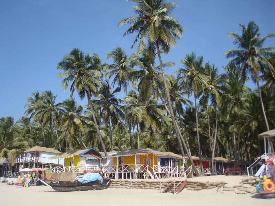 Beach bungalows in Palolem