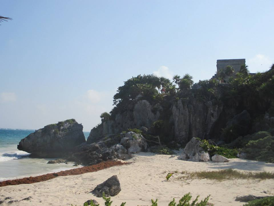 At the budget beaches in Tulum, you get views of Mayan ruins