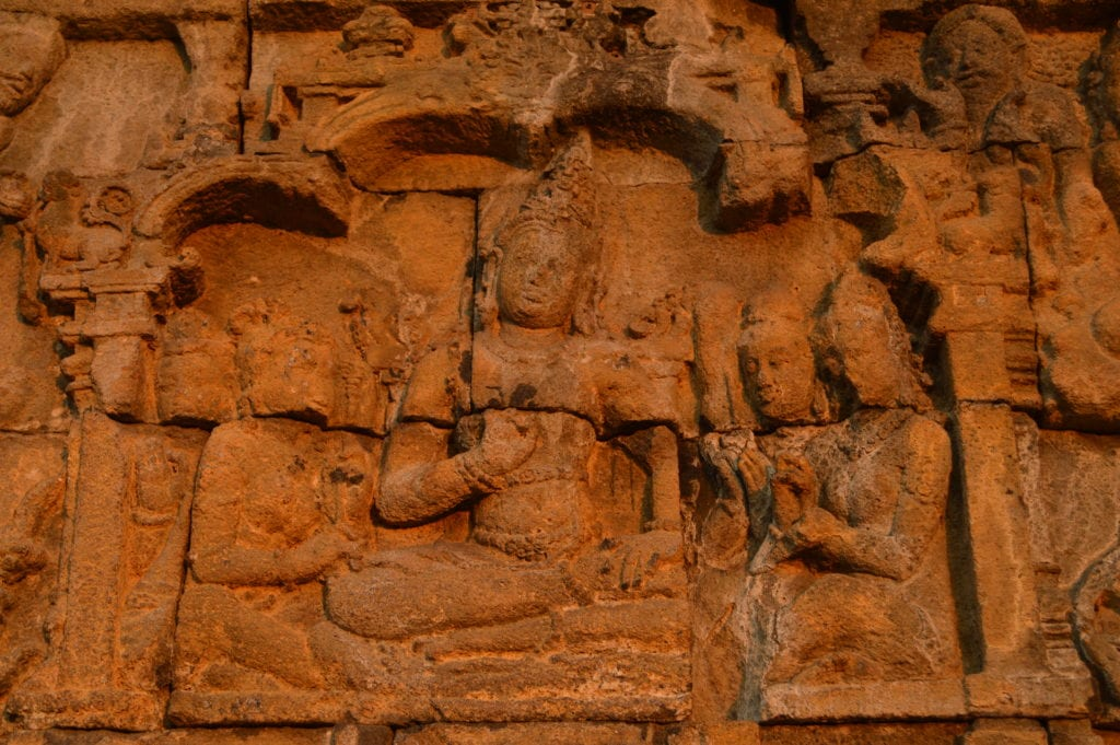Just one of hundreds of unique carvings along the pilgrim walk