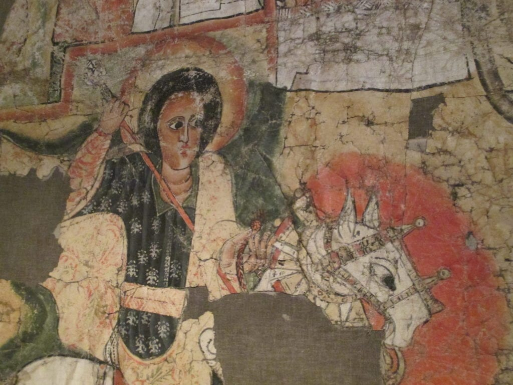 Traditional religious paintings at the Ethnographic Museum