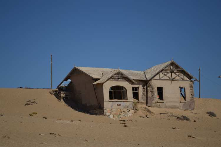A house in Kolmanskop Ghost Town