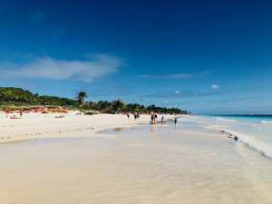 One of the beautiful beaches in Tulum
