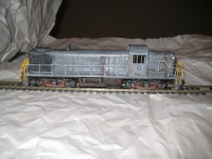 HO scale locomotive kit construction. A Stewart RS-3 kit.
