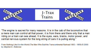 HO scale locomotive information from J-Trax Trains