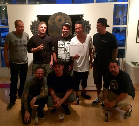 Some of the artists: From left Chad Mize, Tes One, Michael Vasquez, Shark Toof, Morning Breath, Palehorse & Ricky Watts.