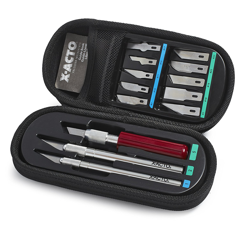 X Acto X Basic Knife Set Soft Compression Case