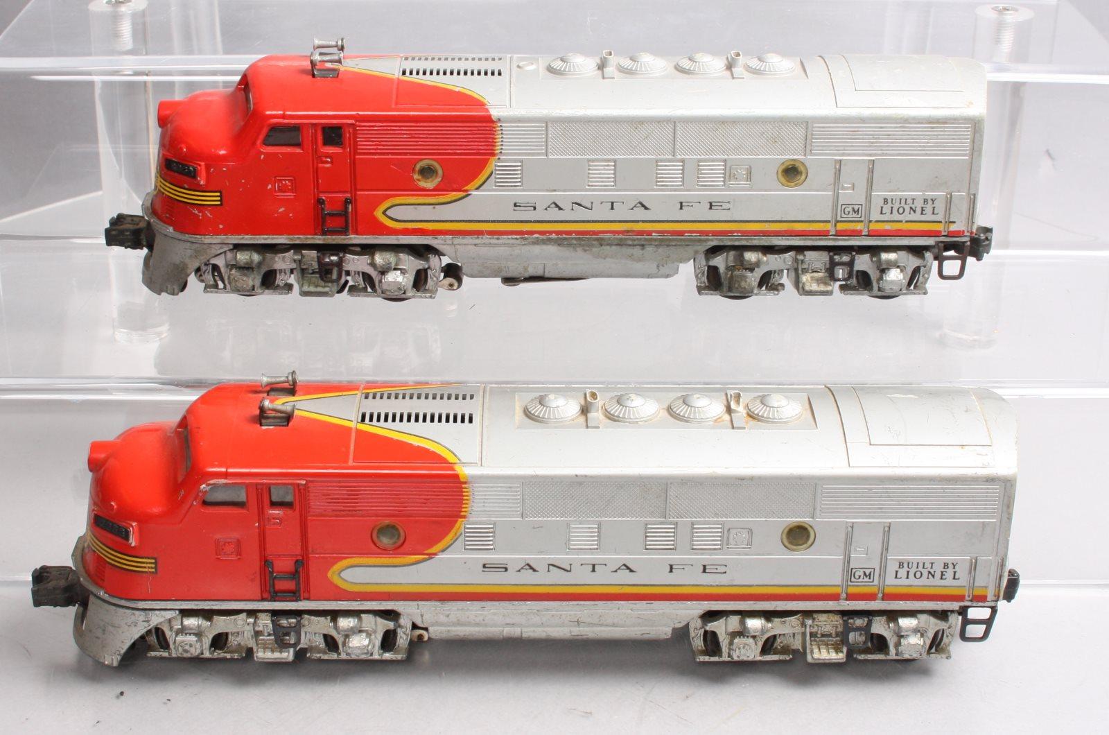 hight resolution of details about lionel 2353 santa fe f 3 aa diesel locomotive set