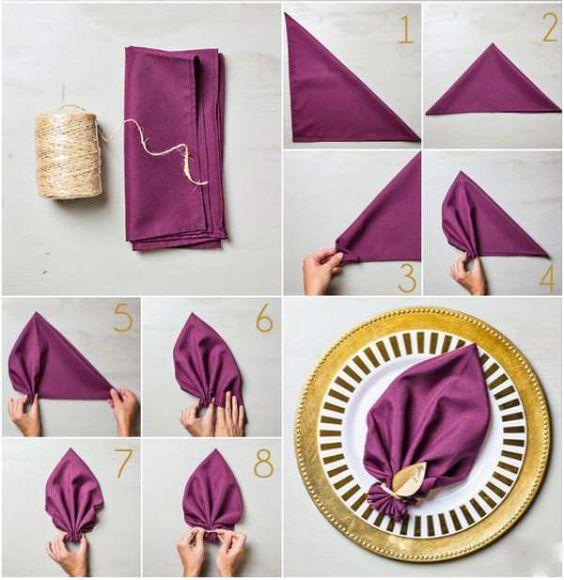 plier sa serviette en feuille